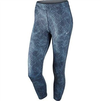 Nike Womens Power Essential Printed Running Crop Tight