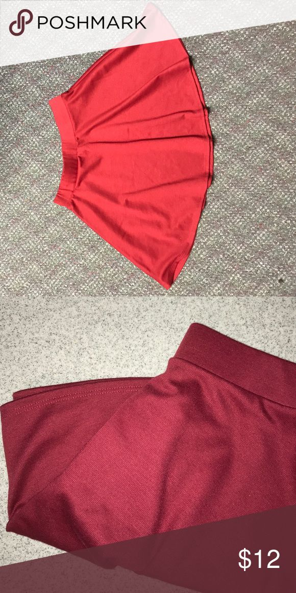 Red high waisted skater skirt Red skater skirt pair it with a black crop top🍕 Wet Seal Skirts Circle & Skater