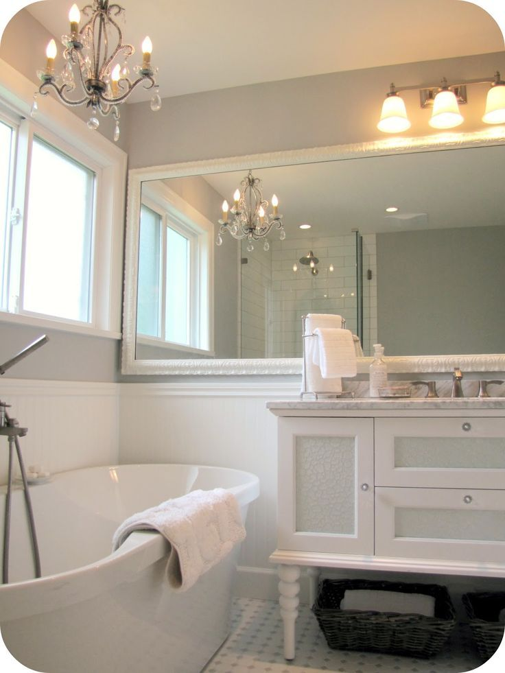 My House of Giggles: White and Grey Bathroom Renov…