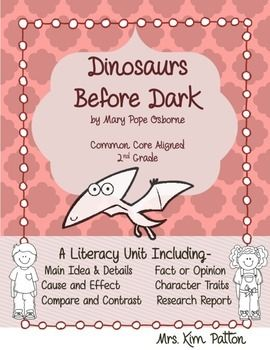 magic tree house dinosaurs before dark book report Magic tree house #1: dinosaurs before dark if there is no fact tracker for this magic tree house book, the student will use the facts in the book or spring board to connections the finished product is a mini-research report.