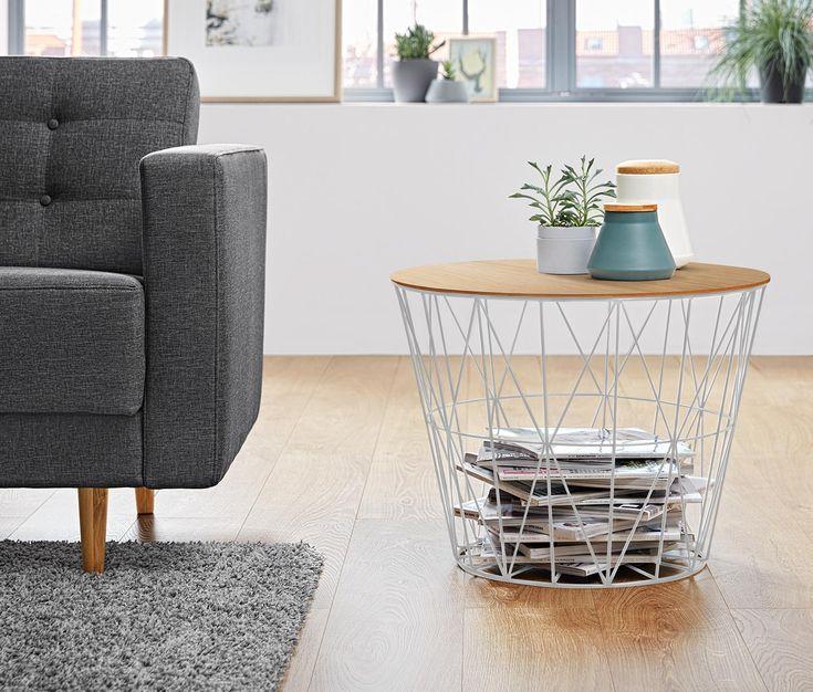 die besten 25 drahtkorb tisch ideen auf pinterest dekorative sofakissen kleiner ecktisch und. Black Bedroom Furniture Sets. Home Design Ideas