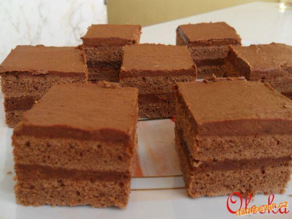 Brownies s čokoládovým krémem
