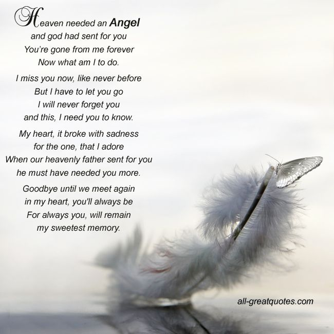 Sad I Miss You Quotes For Friends: Heaven Needed An Angel And God Had Sent For You You're