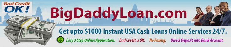 Same day online payday loans are the best solutions for emergency cash crisis. https://www.bigdaddy-loans.com/