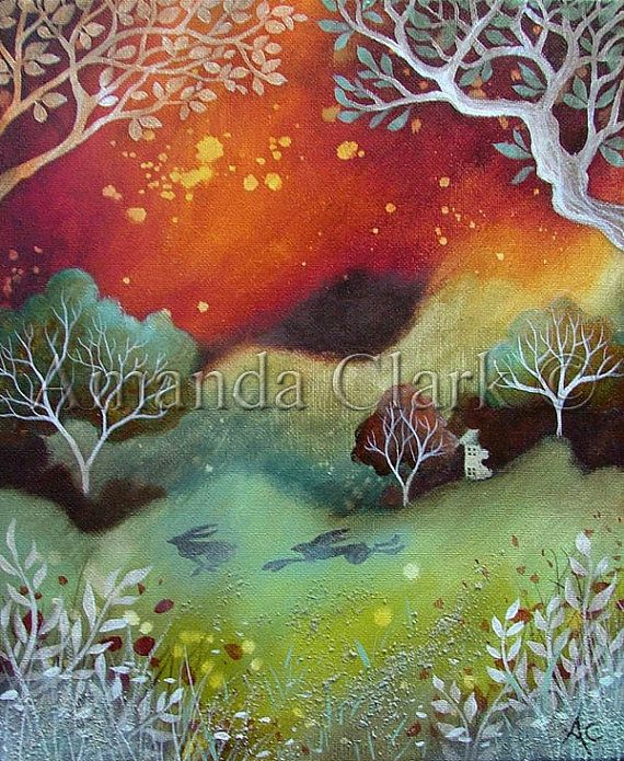 Limited edition giclee of Amber Sky by Amanda by earthangelsarts, £95.00