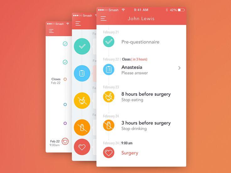 WIP healthcare app design