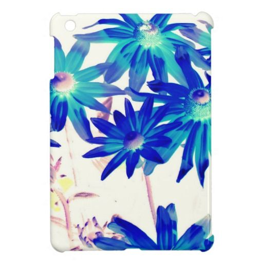 Blue flowers iPad mini covers