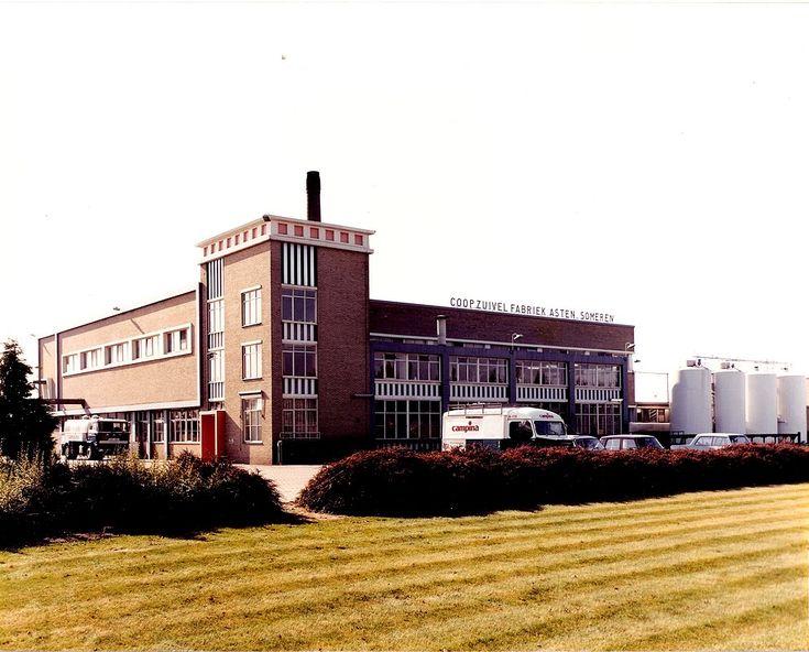 Asten - kaasfabriek. Deze is in 1960 gebouwd na een fusie van de stoomzuivelfabrieken van Asten (oude Molen) en Someren (De Zomerbloem). De Coöperatieve Zuivelfabriek Asten-Someren produceerde melkproducten (vla, yoghurt, chocolademelk enz.); later werd dat kaas. In 1980 nam DMV-Campina de fabriek over. Hij werd in 1999 gesloten.