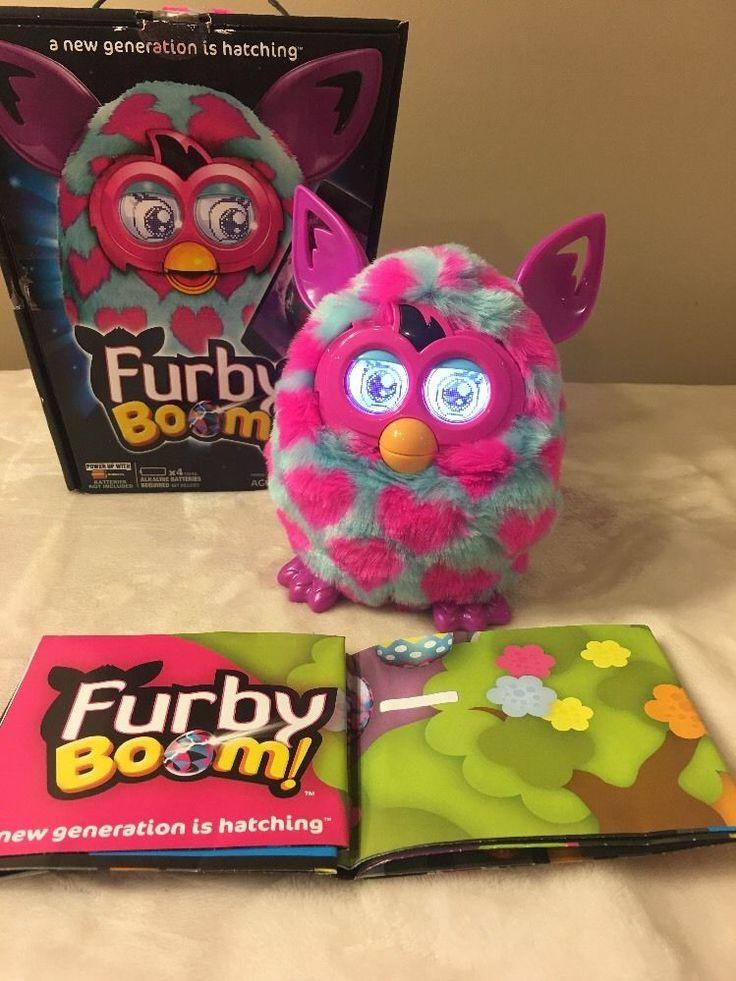 FURBY BOOM PINK HEARTS & BLUE w/ BOX!  Hasbro Interactive Pet Electronic Battery  | eBay