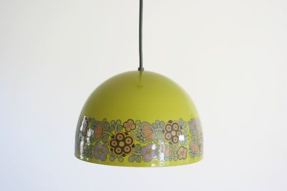 Kaj Franck for Fog & Morup Lamp Enamel arabia finland heart olive green lights Flora Design