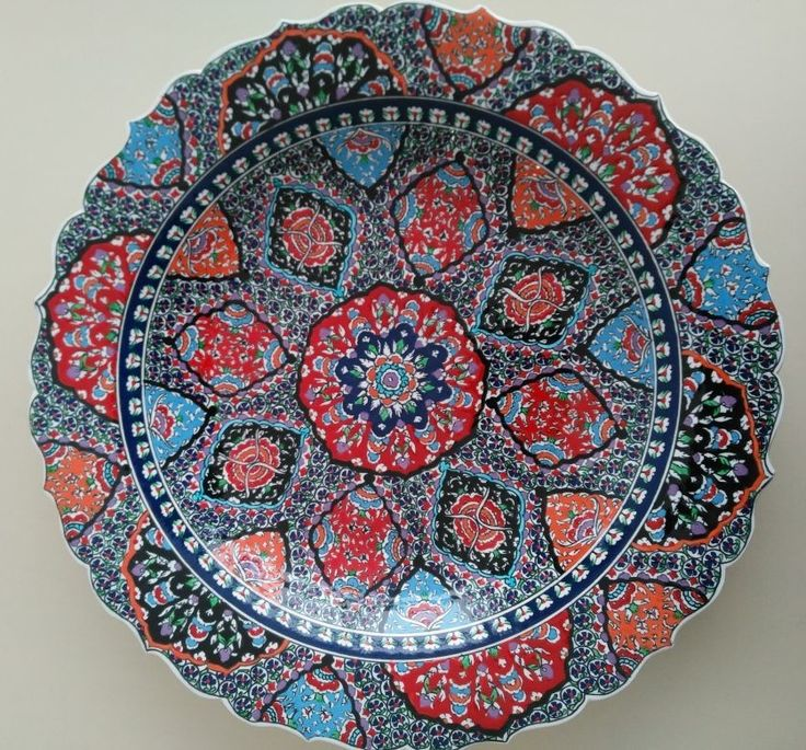 OTTOMAN STYLE TURKISH CERAMIC PLATE, 40 cm, 003