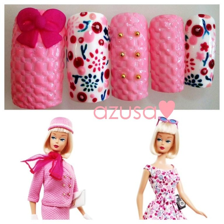 Nails for passport to pink barbie barbie
