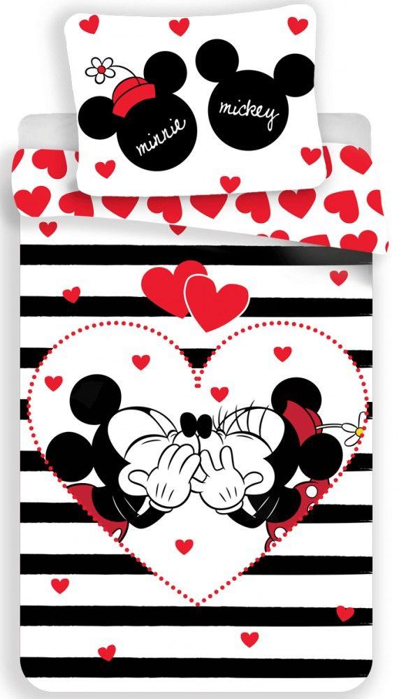 4e28e5a516a Disney Mickey   Minnie Mouse Kiss Single Bedding Set