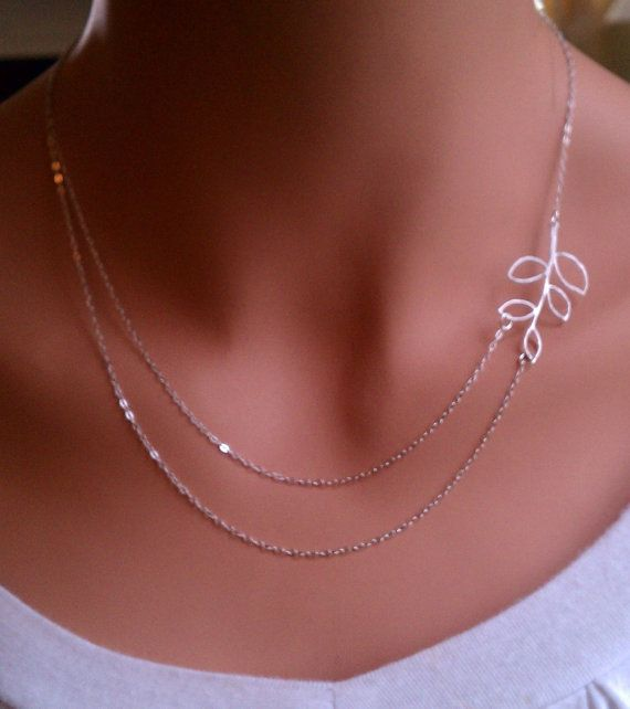 Branch double strand sterling silver necklace by RoyalGoldGifts, $26.00
