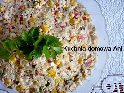 Kuchnia domowa Ani: Sałatka ryżowa z tuńczykiem