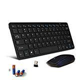 Bestdeal® Wireless Ultra Schlank Mini QWERTY Keyboard Tastatur und Maus für LG Smart TV 47LK950S 55LW5590 49UF6809