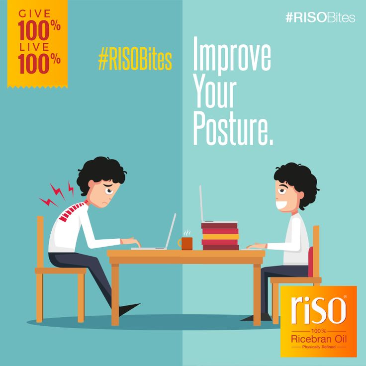 Take efforts to improve your #BodyPosture. Right posture can prevent many health complications like slipped disc, back aches, pressure inside chest and poor blood circulation. The improvement in breathing due to correct posture also increases concentration levels and boosts self confidence.   #Emotional #WellBeing #SelfConfidence #LifestyleTips #RISOBites #Riso #RicebranOil #Give100% #Live100%