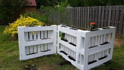 Pallet planter without cutting !