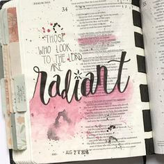 """146 Likes, 13 Comments - Kate Inspired (@katesullivan) on Instagram: """"There's so much to love in Psalm 34, but one thing I especially love about bible journaling is…"""""""