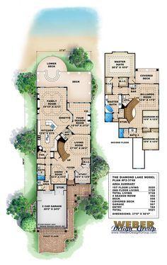 84 best narrow houseplans images on pinterest floor for Narrow lake home plans