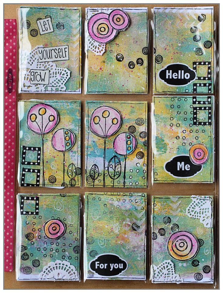 Hello, Une Pocket Letter envoyée en Métropole chez Barbara une adepte de patouille comme moi! Fond à la Gelli Plate – Tampons Paper Artsy – Dies Prima et Florilèges Design Bon jeudi! Mi…
