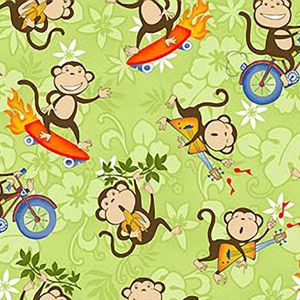 Monkey fabric from WalMart