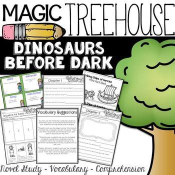 magic tree house dinosaurs before dark book unit best of second grade magic treehouse magic. Black Bedroom Furniture Sets. Home Design Ideas