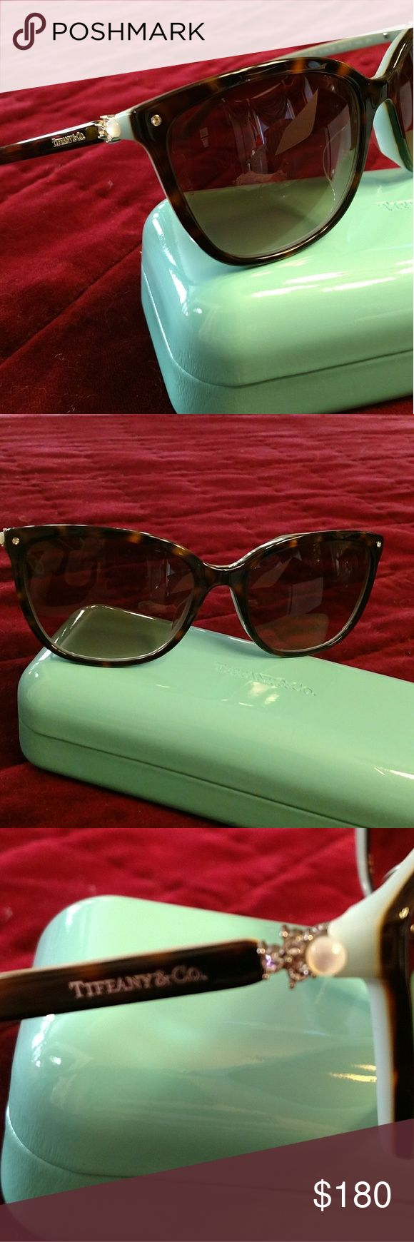 💥NEW💥 Tiffany & Co. Sunglasses Mint condition. Tortoise shell frames, lined with classic Tiffany blue. Sides are adorned with mother of pearl, and rhinestone. Prices are set. If you want a discount please use my bundle option. Please see all photos for full description and details. Tiffany & Co. Accessories Sunglasses