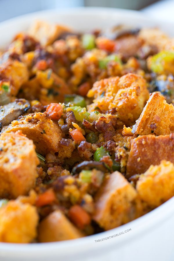 Chorizo Stuffing is a nice break from the traditional stuffing ...