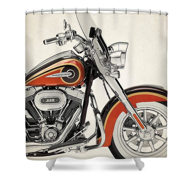 Harley Davidson Cvo Softail Deluxe 2014a Shower Curtain For Sale By  Stephanie Hamilton
