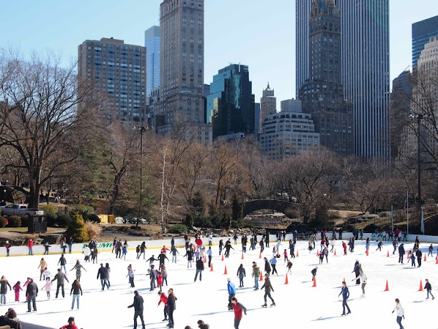 Must experience skating in Central Park - Winter, New York City (even though I'm a noob in skating)