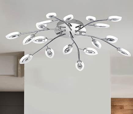 Plafón 18 luces Ashley LED D80