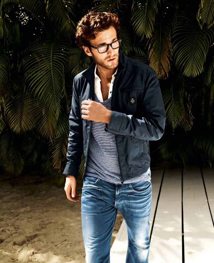 The glasses, I love, and he looks so fab, yet so casual... perfect for every guy!: