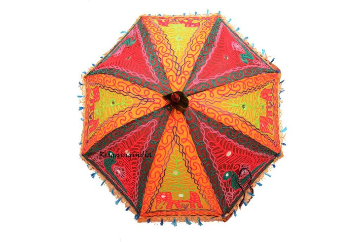 Indian Embroidered Lace Umbrella Handmade Sun Parasol Umbrella Wedding 4465 #Handmade #Parasol