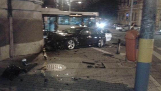 Accident rutier in centrul Clujului - FOTO