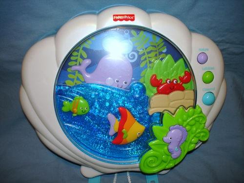 fisher price ocean wonders deep blue sea soother baby crib toy