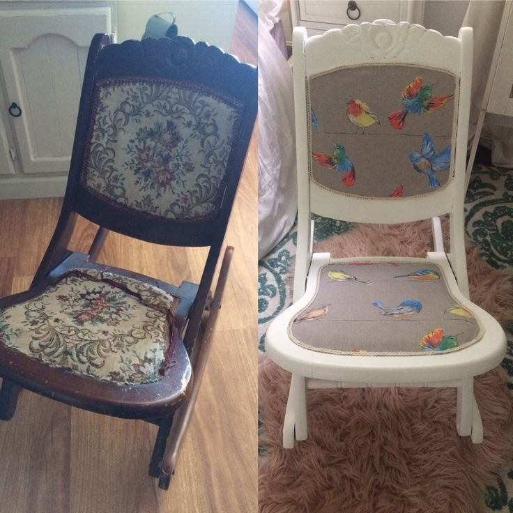 Restored Rubies Rocking Chair Makeover