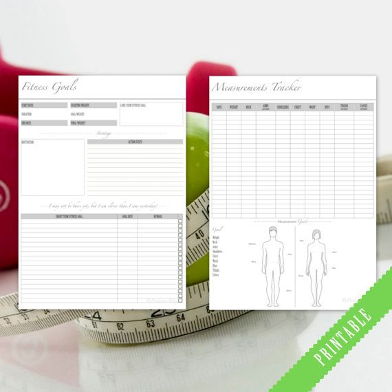 Fitness Planner Bundle Health and Fitness by BeProductiveToday
