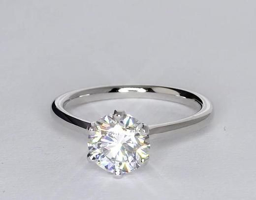 1.41 Carat Diamond Petite Nouveau Six Prong Solitaire Engagement Ring | Recently Purchased | Blue Nile