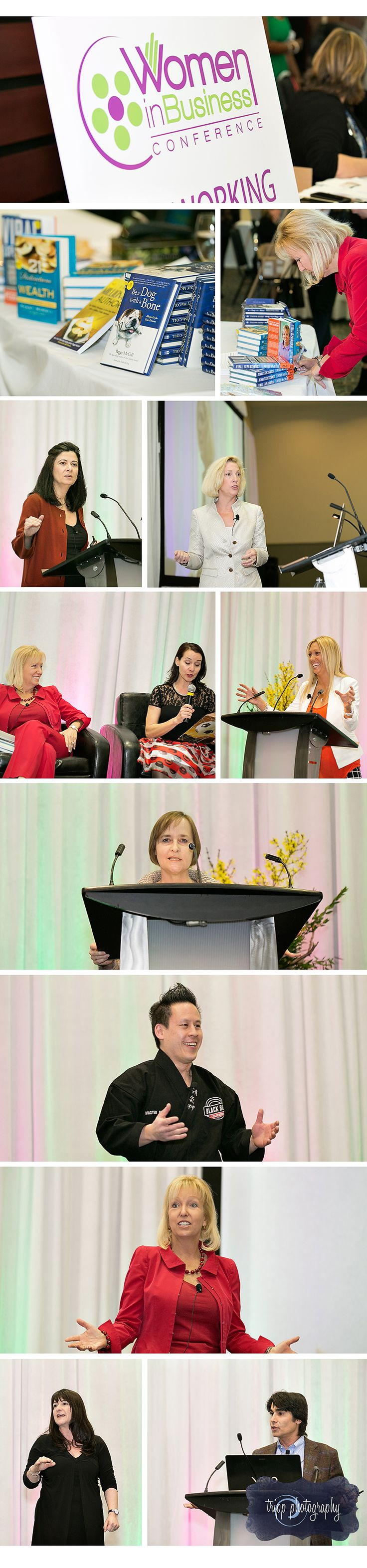 The 2015 Women in Business Conference speakers included the Minister responsible for Status of Women, Dr. Kellie Leitch; high-level cybersecurity expert, Melissa Hathaway; certified holistic health coach, Holly Warner; award-winning mystery-writer, Peggy Blair; Bully Busters founder Master Phil; NY Times best selling author, Peggy McColl; physician and TV host, Dr. Robert Setari; and speaker, actress and comedian, Kate Davis. | Tripp Photography | Professional Photographer | Ottawa, ON