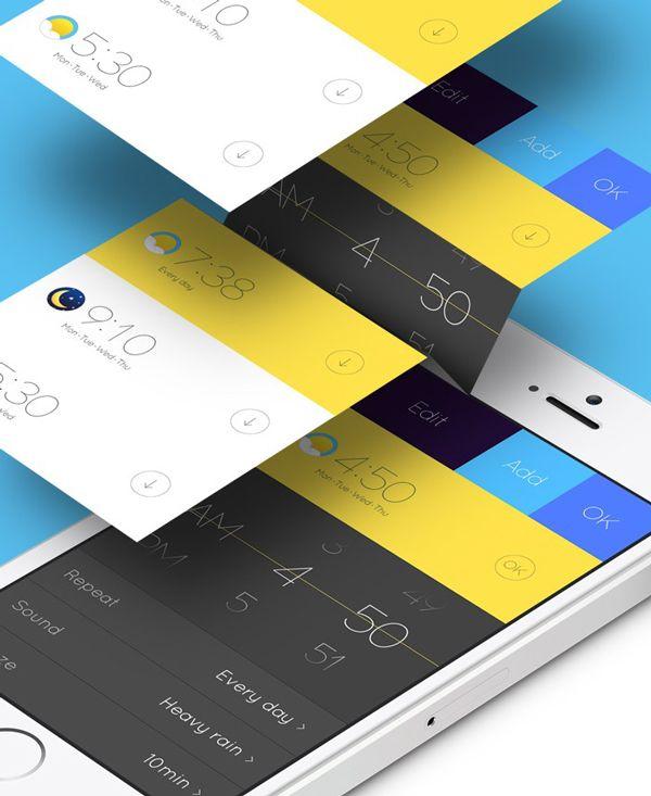 Mobile App Design Inspiration – Alarm Concept | Designbeep