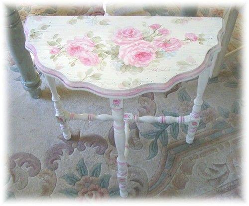 Antique Demilune Table