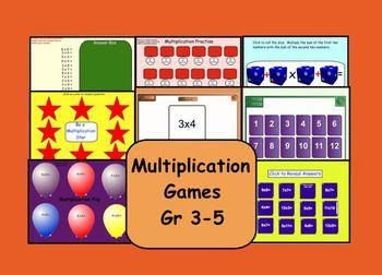 Multiplication Games, interactive Smart board activities.