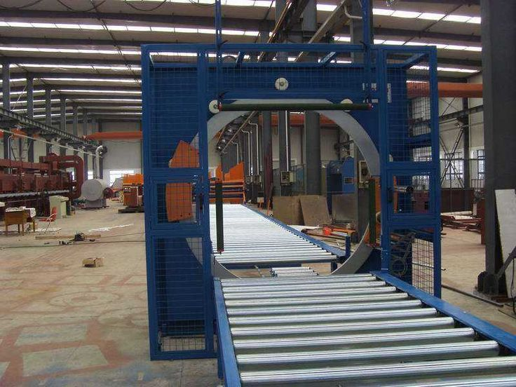 horizontal stretch wrapping machine from SHJLPACK For panel, profile package