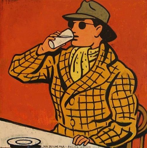 Man Drinking Milk, Dick Frizzell, 2005