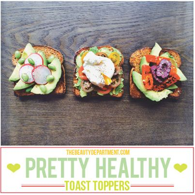 Healthy toast toppers for your body & SKIN! See more deliciousness on thebeautydepartment.com. #IAMHealthy