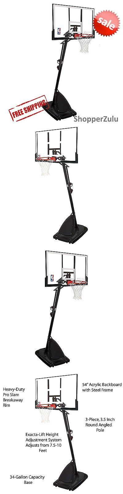 Backboard Systems 21196: Spalding 54 Portable Basketball System Adjustable Hoop Backboard Net Pole 66291 -> BUY IT NOW ONLY: $230.35 on eBay!