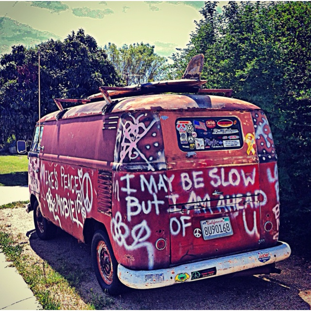 VW Bus SoCal style. Volkswagen bus. California. vintage