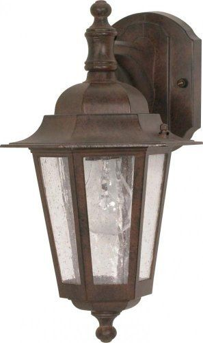 Nuvo 60/989 Arm Down Wall Lantern with Clear Seeded Glass, Old Bronze by Nuvo. $34.49. Old bronze arm down wall lantern with clear seeded glass. (1) 60-Watt A19 medium base bulbs not included.