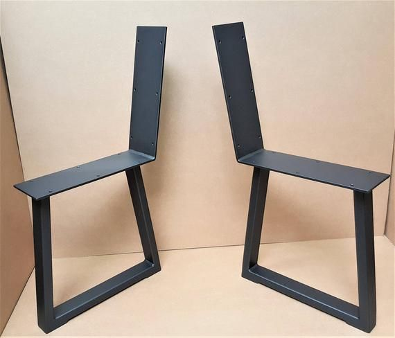 Set Of 2 Modern Chic Bench Legs Model Ttbr31b Tubing Etsy